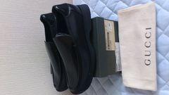 激安65%オフグッチ、GUCCI、ビジネス、革靴(新品箱つき、黒、27)