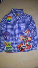 ゴッサムバルーン柄気球チェックシャツ100美品