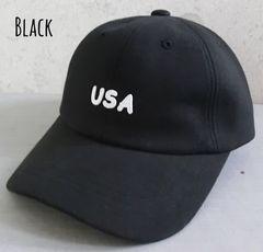 帽子 カーブ キャップ スエット ロゴ USA カーブバイザー