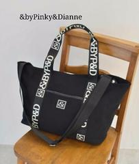&byPinky&Dianne 新品 ロゴ斜め掛け2wayショルダーBAG 黒
