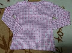 しまむら☆花柄の長袖Tシャツ☆size100