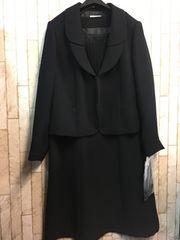 新品☆21号3L4Lブラックフォーマル喪服スーツ黒18000円をs171