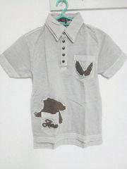 A-207★新品★半袖刺繍入りポロシャツ グレー L