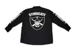 SYNDICATE★OG長袖ワークシャツ★XL★黒★新品