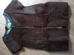 Grandmidiラビットファー半袖ジャケット