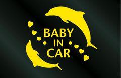 BABY IN CARハワイアン イルカ ステッカー