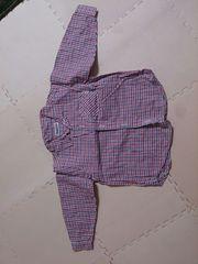 90 チェックのシャツブラウス 美品