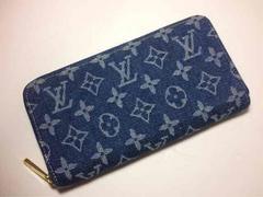 LouisVuittonモノグラムデニムジッピー長財布(ブルー)