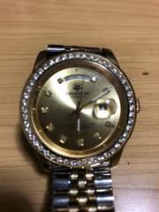 ジョンハリソン JH-089 天然ダイヤ10石入り 腕時計