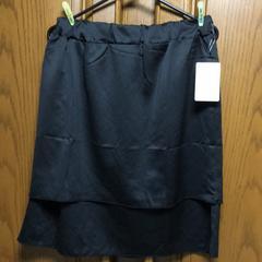 大きいサイズ。とっても素敵なスカート。黒。新品�Aー42