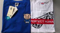 激安87%オフ日本代表、豊天、Tシャツ2枚(新品タグ、�@青�A白、M)