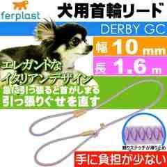 犬 首輪 リード 引っ張ると首がしまる 幅10mm長1.6m 紫 Fa5164
