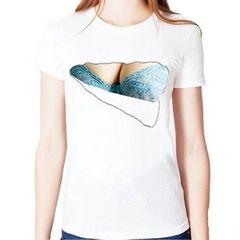 ネット最安値★大人気 胸とブラが見えてる? Tシャツ XL