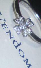 【VENDOME】K18WG☆ヴァンドームダイヤデザインリング