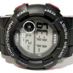 良品【980円〜】TELVA 【クロノグラフ】大型メンズ腕時計