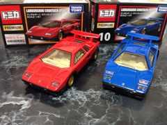 トミカプレミアムランボルギーニカウンタックLP500赤青2台セット