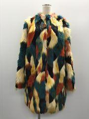【GENKINGオク】H&M フェイクファーカラーコート