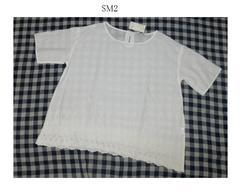 サマンサモスモス*Samansa Mos2*SM2★裾スカラップワイドチュニックブラウス/新品