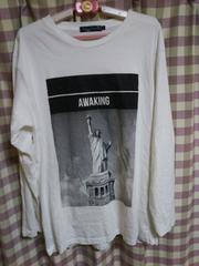 ★THRUXTON 自由の女神柄 Tシャツ サイズ3L 大きめ●