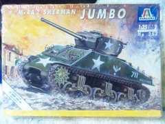 イタレリ 1/35●アメリカ軍●M4A2 シァーマン  JUMB0 76�o砲搭載タイプ