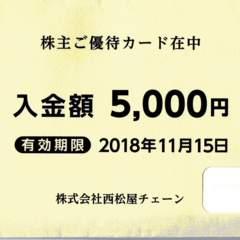 即発送☆西松屋 株主優待券 5000円カード 1枚