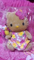 ハワイ購入☆ハワイ限定☆新品☆小麦色キティちゃん☆ぬいぐるみ☆送込み