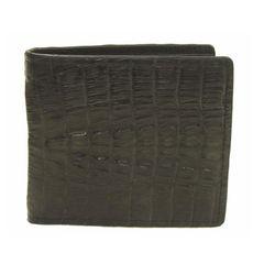 カイマンクロコダイル財布背鰐マット折財布 AFW-214T-BK
