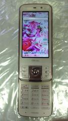 即決価格au携帯電話ケータイT006ベージュピンク富士通東芝