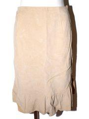 CLATHAS クレイサス フェイクレザースカート ブラウン