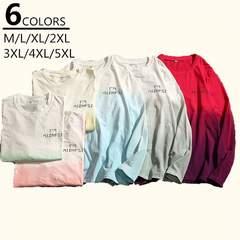 秋トップス カジュアル長袖Tシャツ 大きいサイズ Tシャツ18xa65