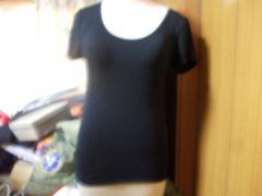 ブラ付き半そでシャツ黒LL新品(7)