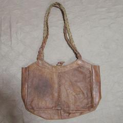 水牛革製ショルダーバッグ*2 ネパール製ハンドメイド