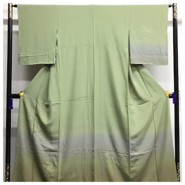 未使用 スワトウ 高級呉服 正絹 訪問着 身丈163 裄64 袷 渋いク
