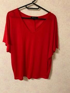 フォーエバー21赤半袖Tシャツ ゆったり美品VネックZARA、H&M