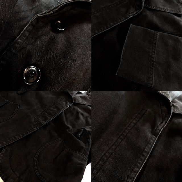 ARMANI COLLEZIONI■ジャケット■キャンバス■アルマーニ■黒 < ブランドの
