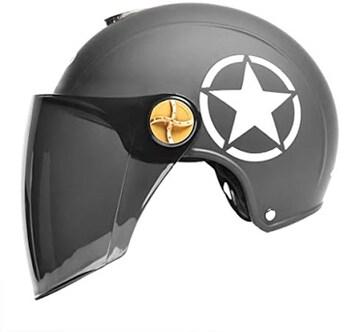 色ブラック サイズ55〜60cm バイクヘルメット ダブルレンズの