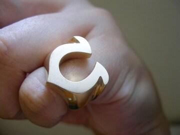 仁尾彫金『ゴールド馬蹄ピンキーリング』ハンドメイド