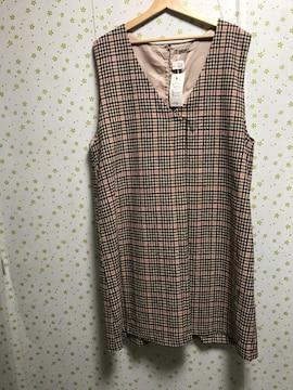 4Lサイズ チェック柄 ジャンバースカート