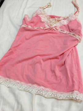ピンクのキャミソール・中古トップス☆愛用品
