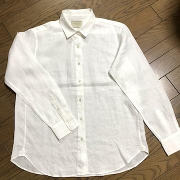 ユナイテッドアローズ オーバーサイズ 白ホワイトリネンシャツ