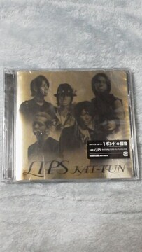 必見KAT-TUN『LIPS』初回限定盤(DVD付)美品貴重オマケ付