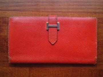 ★正規品エルメス長財布リザードクロコで美品です☆