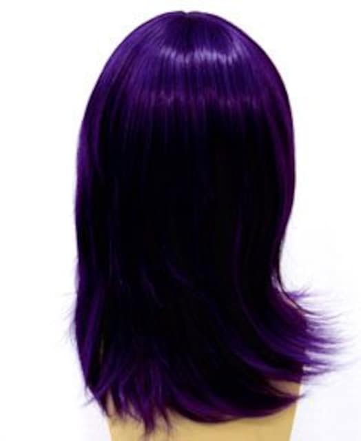 即納可能☆耐熱☆即決 フルウィッグ ショート 紫/パープル D4 < 女性ファッションの