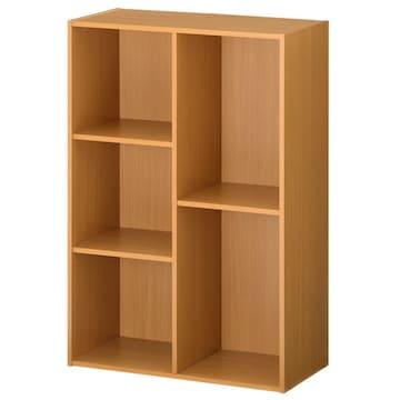 幅60×高さ89cm 木製 カラーボックス  本棚ナチュラル