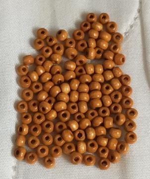 新品 ウッド ビーズ パーツ 茶色 素材 120個 約3mm×約2mm 穴1mm