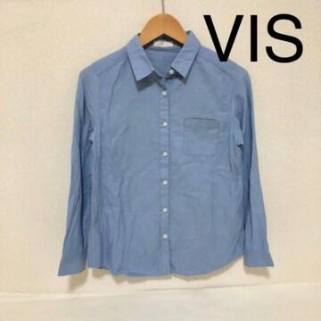 #VISブルーシャツM
