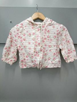 LIZ LISA☆ボーダー薔薇柄5分袖パーカー
