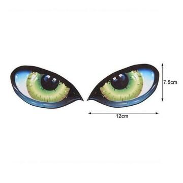 注視◆ 視線 目玉◆3Dステッカー目力/警告