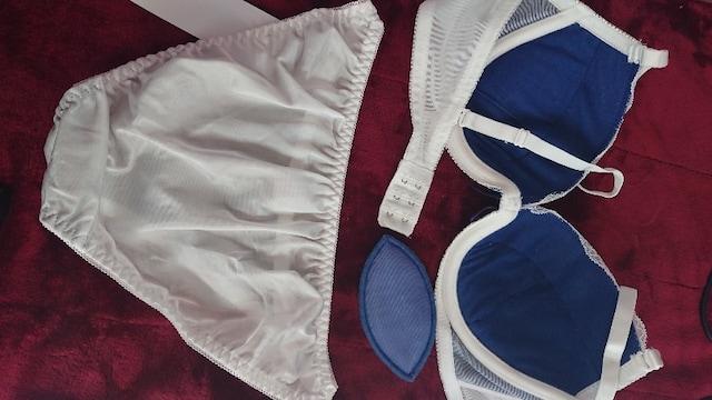 �H訳有り特価 B80/L 白オーバーレース ブラジャーショーツセット パンティー N1210 < 女性ファッションの