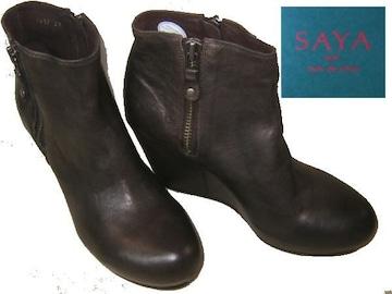 SAYA ブーツ サヤ ラボキゴシ 靴ウエッジ ブーティ ブーツDGY